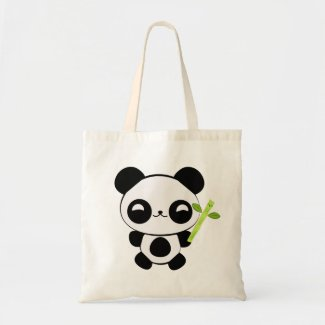 Happy Baby Panda Tote Bag
