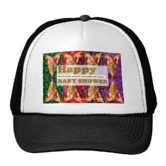 Happy BABY SHOWER :  Artistic Script n Decorations Trucker Hat