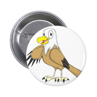Happy Bald Eagle Pinback Buttons