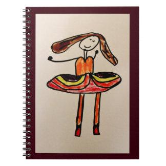 Happy Ballerina Notebook