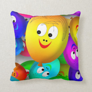 happy balloons cushion