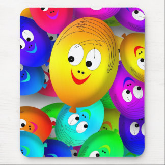 happy balloons mouse mat