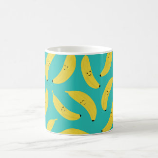 Happy Bananas Cute Fruit Pattern Coffee Mug