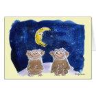 Happy Bananaversary Cartoon Monkeys Card