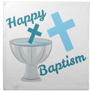 Happy Baptism Napkin