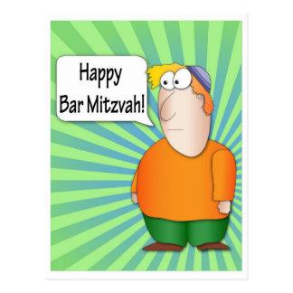 Happy Bar Mitzvah Postcard