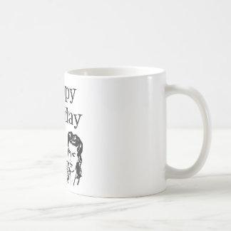 Happy Barfday Retro Man & Woman B&W Mugs