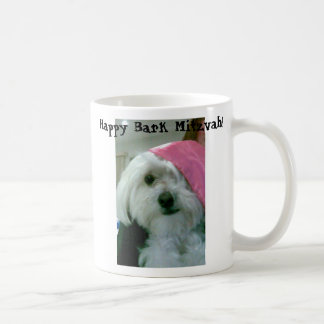 Happy Bark Mitzvah! Basic White Mug