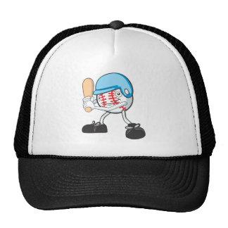 Happy Baseball Player Mesh Hat