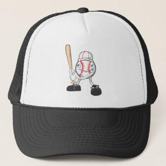 Happy Baseball Player Trucker Hat