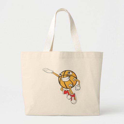 Happy Basketball Player Making a Layup Jumbo Tote Bag