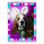 Happy Basset Hound Easter Greeting Greeting Card
