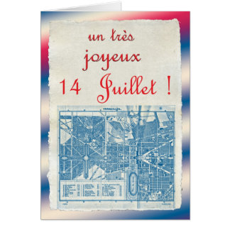 Happy Bastille Day Greeting Card