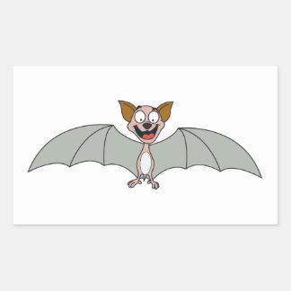HAPPY BAT RECTANGULAR STICKER
