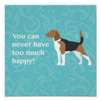 Happy Beagle Poster