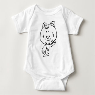 Happy bear and castle baby bodysuit