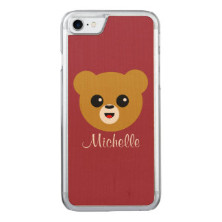 Happy Bear Carved iPhone 8/7 Case