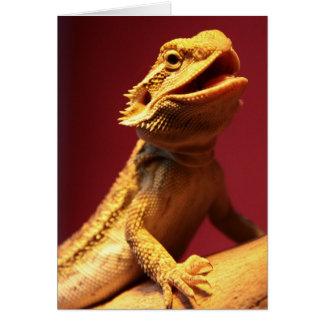 Happy Bearded Dragon Greeting Card