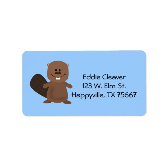 Happy Beaver Address Label