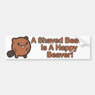 Happy Beaver Bumper Sticker
