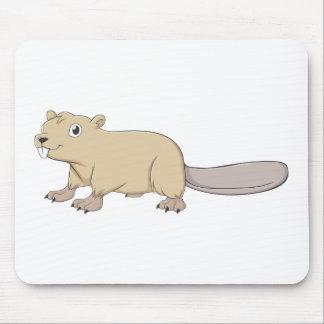 Happy Beaver Cartoon Mouse Pads