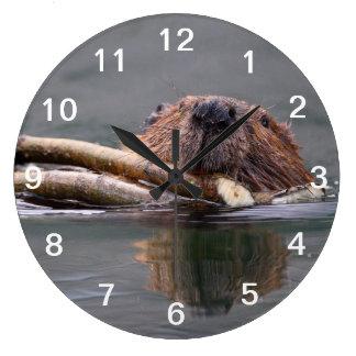 Happy Beaver Clock