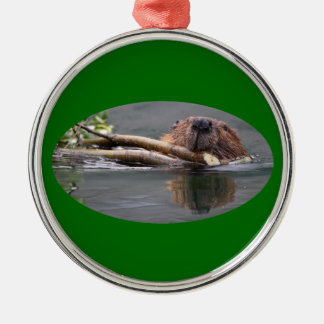 happy beaver ornament