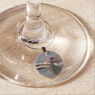 Happy Beaver Wine Charm