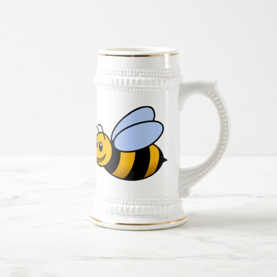 Happy Bee Beer Stein