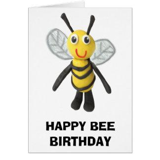 Happy Bee Birthday Greeting Card