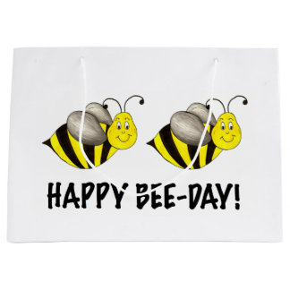 Happy Bee-Day Bumblebee Bees Bday Birthday Bag