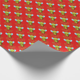 Happy Bee-Day Wrapping Paper