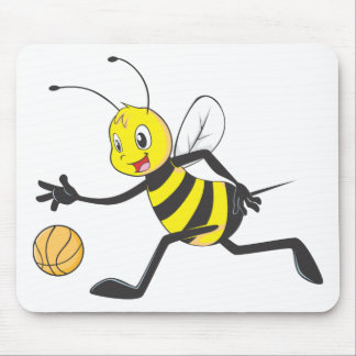 Happy Bee Dribbling Mouse Pad