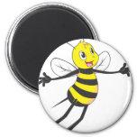 Happy Bee Flying Fridge Magnet