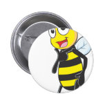Happy Bee Posing like a Model Pin