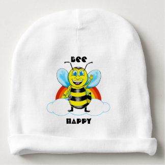 Happy Bee & Rainbow Baby Hat Baby Beanie