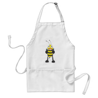 Happy Bee with Gesture of Approval Adult Apron