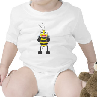 Happy Bee with Gesture of Approval Baby Creeper