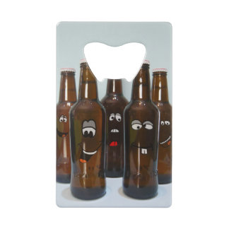 Happy Beer Bottles Credit Card Bottle Opener