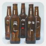 Happy Beer Bottles Sticker
