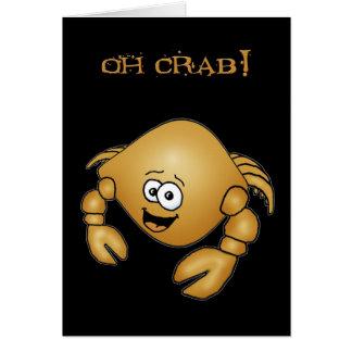 Happy belated birthday crab card