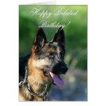 Happy Belated Birthday German Shepherd card