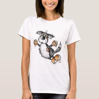 Happy Bernese Mountain Dog Cartoon T-Shirt