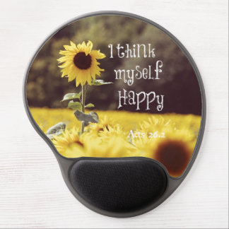 Happy Bible Verse with Sunflowers Gel Mouse Mat