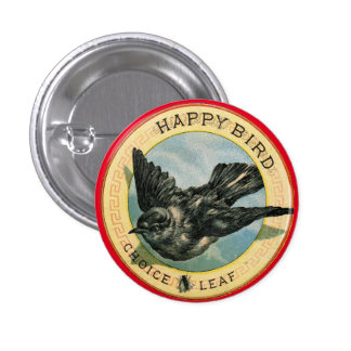 Happy Bird Choice Leaf Vintage Advertisement Pin