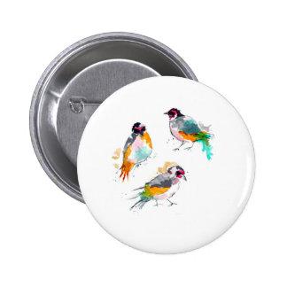 Happy Birds 6 Cm Round Badge
