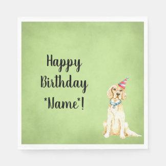 Happy Birithday Party Dog Paper Napkins