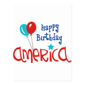 Happy Birtday America Postcard
