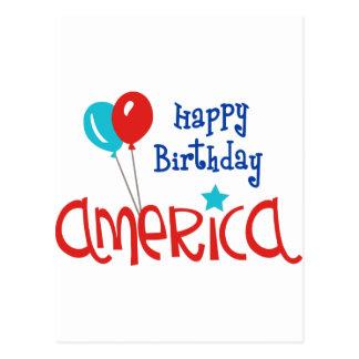 Happy Birtday America Postcard