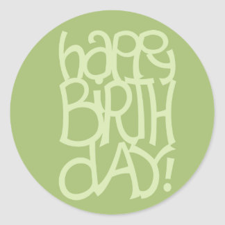 Happy Birth Day green Sticker